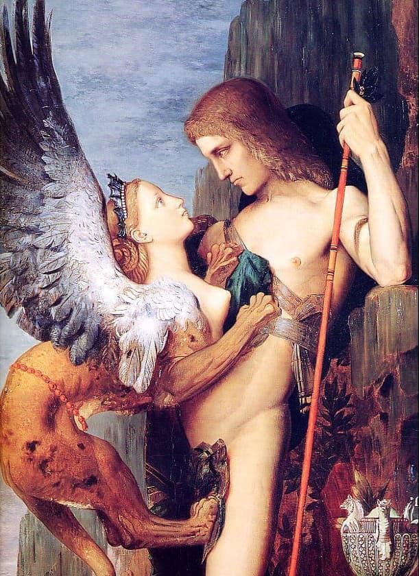immagine per Gustave Moreau, Edipo e la Sfinge
