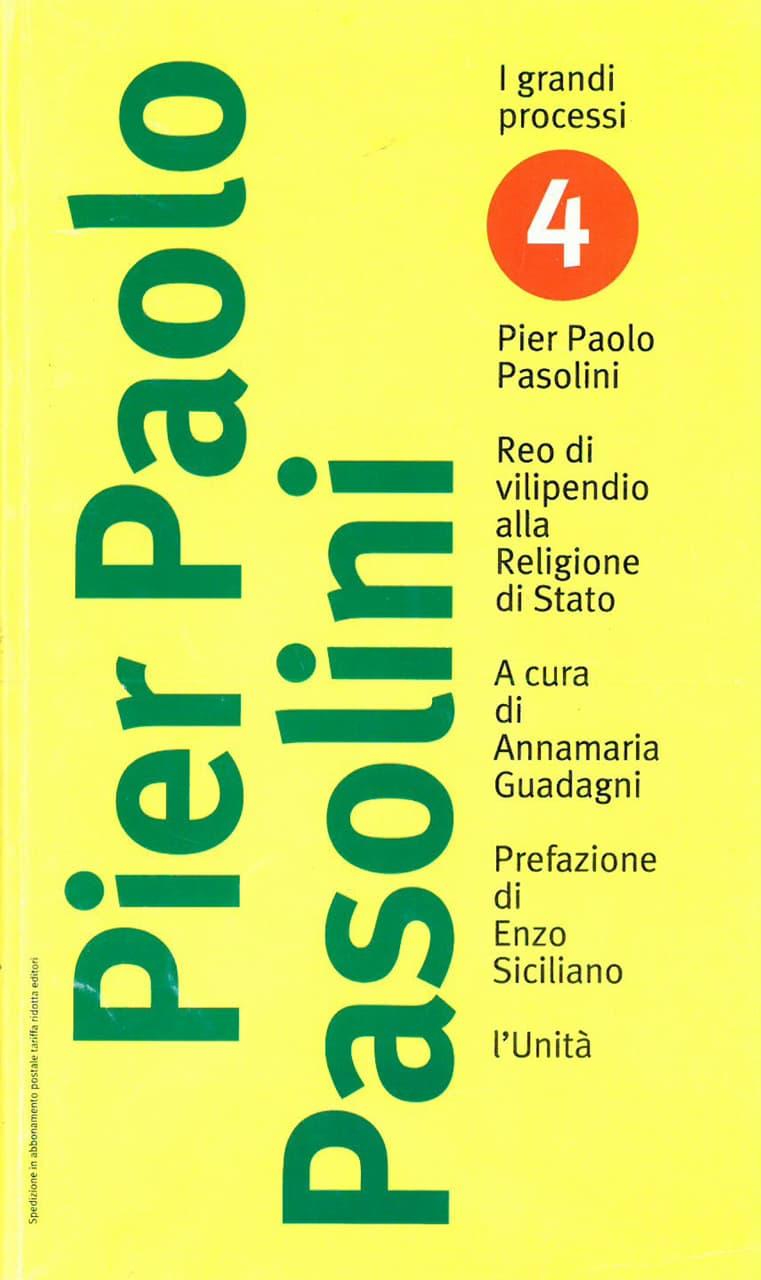 immagine per Pier Paolo Pasolini cover